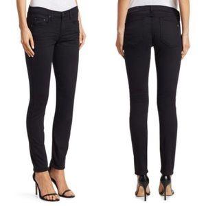 Rag & Bone Mid-rise Skinny Black Denim Jeans